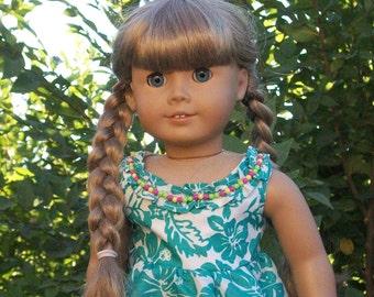 Aloha Dress - Handmade for American Hawaiian 18inch Doll