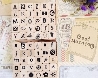Funky Alphabet stamp set