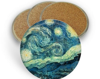 Starry Night Coaster Set - Drink Coasters