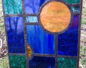 Rectangle Stained Glass panel