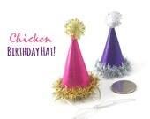 Birthday Hat for Chickens, Hedgehog Birthday Hat, Small Pet Birthday Supplies, Rabbit Birthday