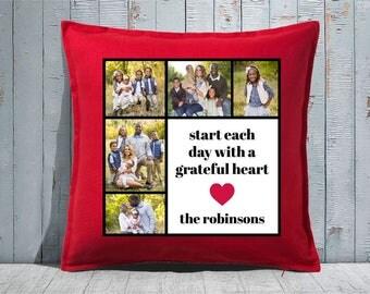 Custom Decorative Pillow | Throw Pillow | Custom Pillow | 20 x 20 Pillow Cover | Custom Pillow Cover | Personalized Pillow | grateful