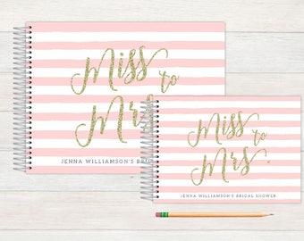 Bridal Shower Guest Book, Bridal Shower Guestbook, Bridal, Custom GuestBook, Personalized GuestBook, Bridal Shower Registry Book, to mrs