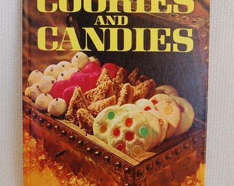 Vintage Better Homes and Gardens Cookbook Cookies and Candies in good condition 96 pages 1966 FIRST edition, Sixth Print 1969  CB363
