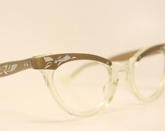 Unused Cat Eye Glasses Combination vintage cateye frames NOS