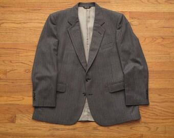 vintage Pierre Cardin striped wool suit