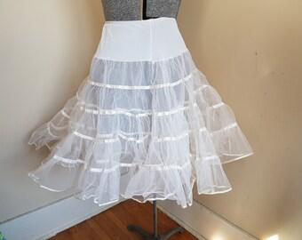 Vintage White Petticoat Crinoline S to XL
