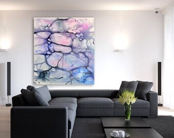 Abstract Art - Watercolor Painting - Violaceae Contemporary Art Print