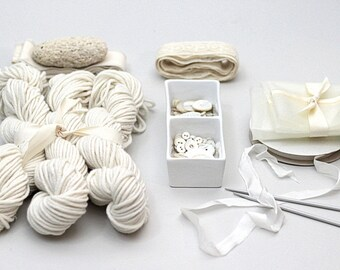 Hand dyed 100% Cashmere Yarn, Natural Creme, Chunky, Mischa, Cashmere, Cream, Natural