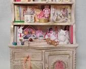 Dollhouse Miniature BESPAQ Nursery or Shop Filled Toy Cabinet