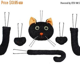 "10%OFF 18.5"" Black Cat Decor Kit HH7301, Wreath Decor, Halloween Decor"