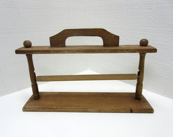 Vintage Wooden Paper Towel Holder Portable