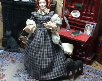 Doll House, Miniature Doll, Victorian, Twelve Scale,OOAK Miniature, Emily