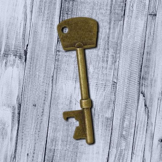 skeleton key bottle opener steampunk key antiqued bronze 100 pieces 74mm 2 8 vintage old style. Black Bedroom Furniture Sets. Home Design Ideas