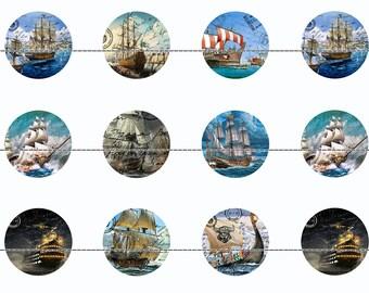 Old Ship Magnets~Sailing Ship Magnets~Old Ship Pins~Old Ship Magnets~Party Favors~Gift Sets~Sailing Ships~Maritime Magnets