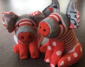 An adorable pair of Red and White Piglets. Special order reserved for Anita