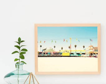 Santa Cruz Wall Art, Framed Art Print, Colorful Bright Decor, Santa Cruz Boardwalk, Framed Wall Art, Kids Room Decor, California Art Print