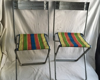 Metal folding chairs  camping chairs  by Carmen