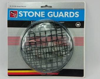 "Vintage Wilmar Headlight Stone Guards W-7072B Small Round 65 3/4"" Black 1985"