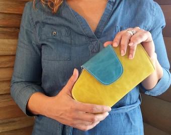 Yellow Leather Wallet Women's,  Leather yellow Wallet, Womens Leather Wallet, Wallets for Women, leather purse women, design womens wallet