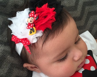Mickey or Minnie Mouse Inspired Headband Infant to Adult sizes