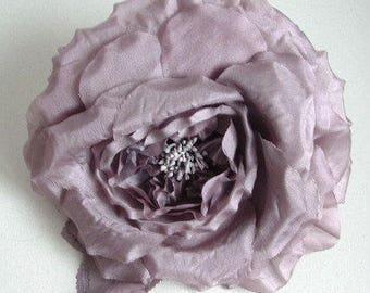 Extra Large Chiffon Rose - Grey