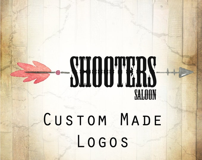 LOGO in SHOOTERS•Premade Logo•Jewelry Card Logo•Watercolor Logo•Custom Logo•Shop Logo