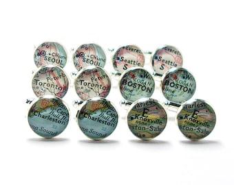Groomsmen Cufflinks. Set Of Six Pairs. Vintage Map Cufflinks. You Select Cities Worldwide. Groom Cufflink. Wedding Cufflinks. Travel Wedding