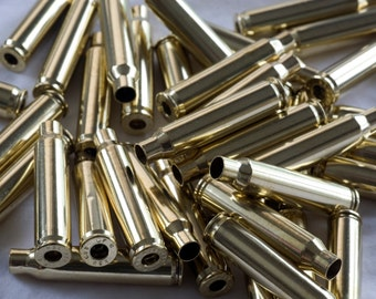 223 Once Fired Federal Brass Cases Deprimed, Polished and Crimp Removed Great for Jewelry 125 Count