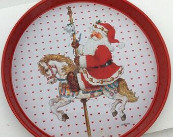 Santa Christmas Cookie Tray Platter
