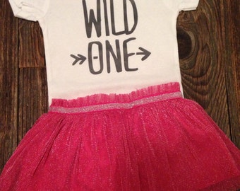 Wild One first birthday or any occasion 12 month