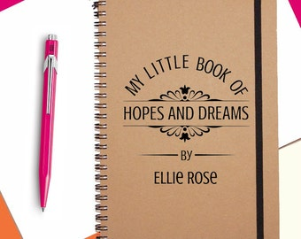 Hopes&Dreams|Personalised|Notebook|A5|Spiral Bound|Cute Notebook|Quirky Gift|Gift for Her|Best Friend Gift|Secret Santa|Stocking Filler