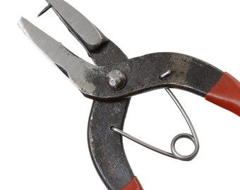 Metal Punch Hole Pliers - Stainless Steel - 16 cm (6 1/4 in) - Punches holes in metal findings of 1mm thickness or less!