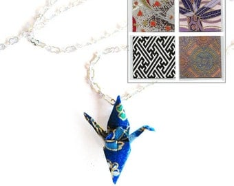 Origami Crane Necklace Geometric Paper Choices Too Peace Crane Necklace
