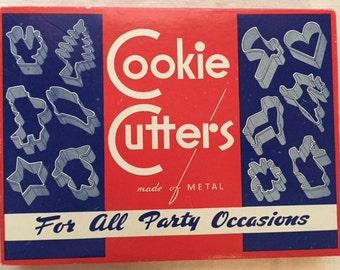 Vintage 1950's Cookie Cutters In Original Box