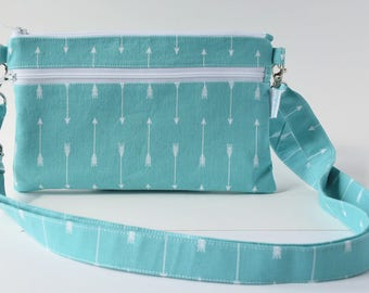 Small Crossbody Bag - Small Travel Purse - Cell Phone Bag - Summer Purse - Arrow Bag - Handmade by Zookaboo - Ready to Ship