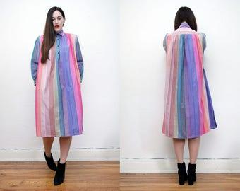 Vintage Phool Indian Cotton Gauze Dress Boho Dress Hippie Dress Ethnic Floral Gauze Cotton Dress 70s RARE