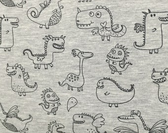 dragon jersey fabric, fabric for tshirts cotton jersey, dragon cotton lycra, dragon fabric, dragon fabric for harems, harem fabric