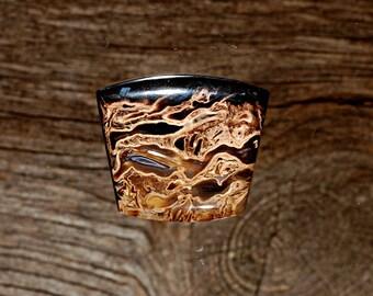 Petrified Birds Eye Palm Wood,  Cabochon, Handmade Designer Cabochons by MagicStones