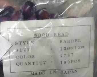 12mm Wood Barrel Beads
