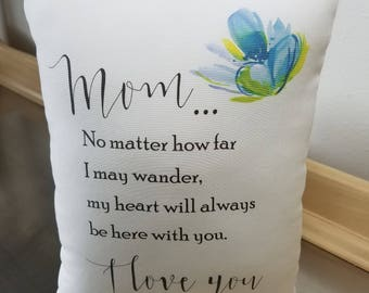 Mother birthday gift for mom poplin pillow mom birthday gift throw pillows cotton mother cushion mommy gifts white blue bedroom home decor