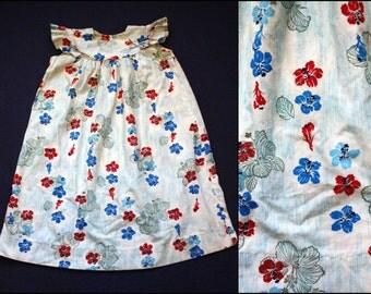 Vintage 1950s 1960s Child's Tropical Muumuu by Lehua Beautiful Hawaiian Dress Size 4 Retro