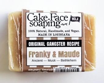 Frankincense and myrrh natural vegan soap bar gift soap masculine soap handcrafted soap bar coconut oil soap olive oil soap body wash