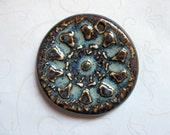 Dark Ocean Tan Ceramic Pendant