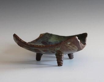 Pottery Dish, Modern Hostess Dish, handmade ceramic dish, ceramics and pottery, stoneware, ceramics by Kazem Arshi