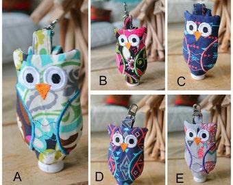 Hand sanitizer holder - owl - owl hand sanitzer