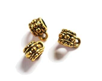 4 Golden dread beads