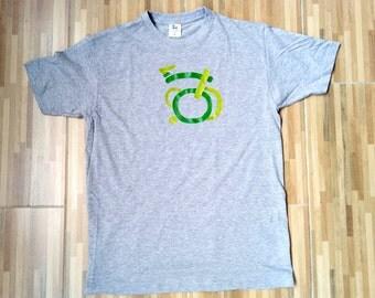 Graphic tee, Brompton, gift, bicycle, unisex tee, art, funny tee, grey shirt, M size