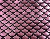 Pink mermaid fish scale spandex fabric