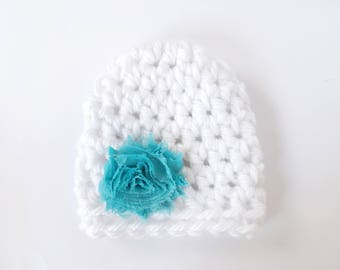 Newborn Girl Hat / Baby Girl Hat / Crochet Baby Hat / Baby Shower Gift Girl / Infant Crochet Hat / Baby Girl Beanie / Newborn Beanie